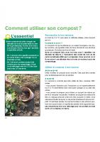 Comment utiliser le compost ?